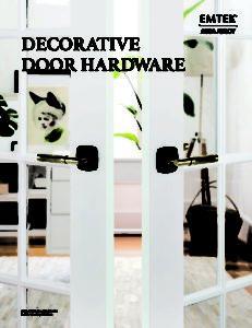 Emtek Decorative Door Hardware Full Size Brochure